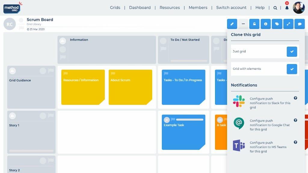 Scrum board online integrations