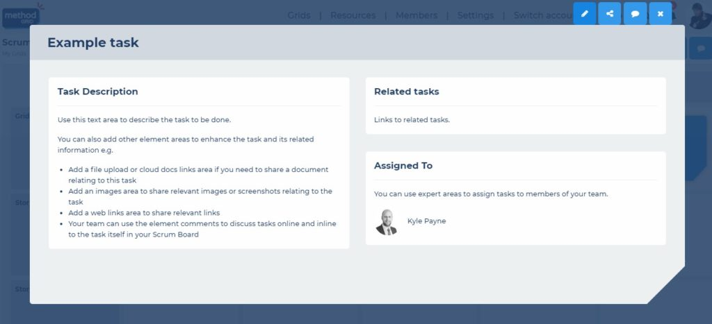 Scrumban board assign tasks